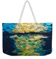 Golden Moon Reflection Weekender Tote Bag