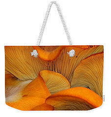 Golden Mushroom Abstract Weekender Tote Bag