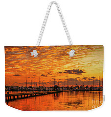 Golden Orange Sunrise Weekender Tote Bag