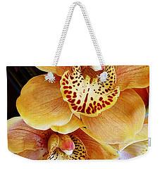 Golden Orchid Weekender Tote Bag