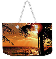 Golden Palm Sunrise Weekender Tote Bag
