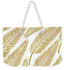 Golden Palm Weekender Tote Bag by Uma Gokhale