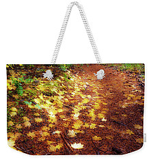 Weekender Tote Bag featuring the photograph Golden Path by Cat Connor