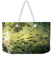 Golden Pond With Fish Weekender Tote Bag