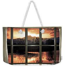 Golden Ponds Bay Window View Weekender Tote Bag