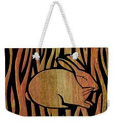 Golden Rabbit Weekender Tote Bag