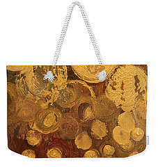 Golden Rain Abstract Weekender Tote Bag