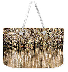 Golden Reed Reflection Weekender Tote Bag
