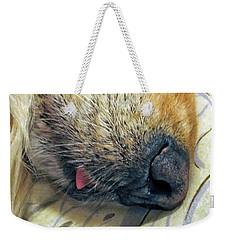 Golden Retriever Dog Little Tongue Weekender Tote Bag