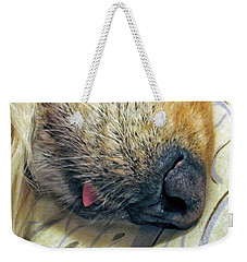 Golden Retriever Dog Little Tongue Weekender Tote Bag