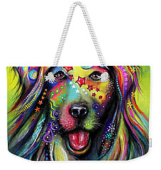 Golden Retriever Weekender Tote Bag by Patricia Lintner