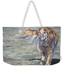 Golden Retriever Play Time Weekender Tote Bag