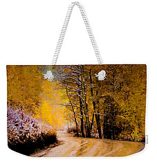 Golden Road Weekender Tote Bag