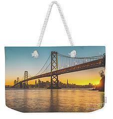 Golden San Francisco Weekender Tote Bag by JR Photography