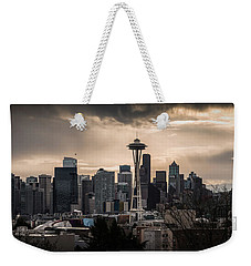 Golden Seattle Weekender Tote Bag by Chris McKenna