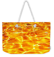 Golden Shadows Weekender Tote Bag by Ramona Matei