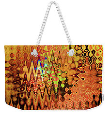 Weekender Tote Bag featuring the digital art Golden Shrine by Ann Johndro-Collins