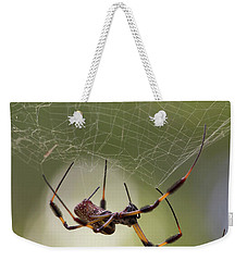 Golden-silk Spider Weekender Tote Bag