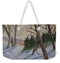 Golden Sky In The Snow Weekender Tote Bag