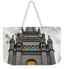 Golden Slc Temple Weekender Tote Bag