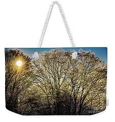 Golden Snow Weekender Tote Bag