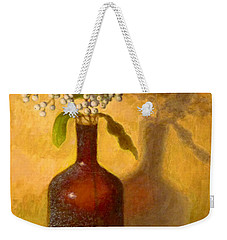 Weekender Tote Bag featuring the painting Golden Still Life by Joe Bergholm