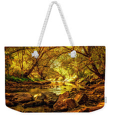 Golden Stream Weekender Tote Bag