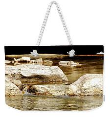 Golden Stream Weekender Tote Bag