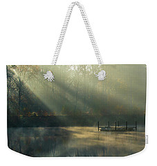 Weekender Tote Bag featuring the photograph Golden Sun Rays by George Randy Bass
