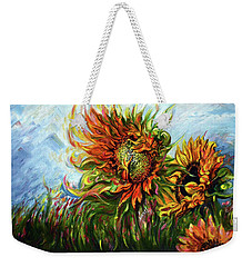 Golden Sunflowers - Harsh Malik Weekender Tote Bag