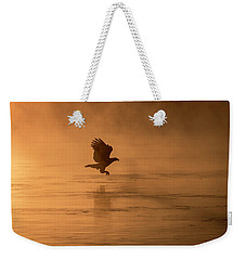 Golden Sunrise And Eagle  2016-3 Weekender Tote Bag