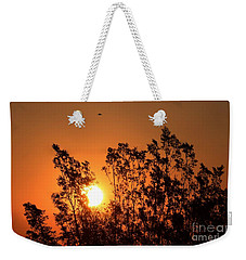 Weekender Tote Bag featuring the photograph Golden Sunrise by Angela J Wright