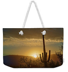 Weekender Tote Bag featuring the photograph Golden Sunrise by Dan McManus