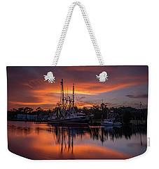 Golden Sunset On The Bayou Weekender Tote Bag