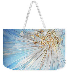 Weekender Tote Bag featuring the mixed media Golden Sunshine by Angela Stout