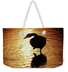 Golden Swan Weekender Tote Bag