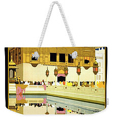 Golden Temple Amritsar India - Vintage Travel Advertising Poster Weekender Tote Bag