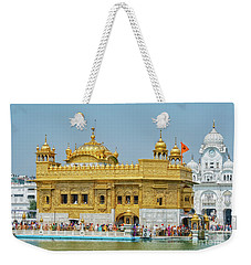 Golden Temple Punjab India With Clear Sky Weekender Tote Bag