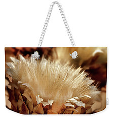 Weekender Tote Bag featuring the digital art Golden Thistle II by Bill Gallagher