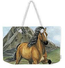 Golden Tolt Icelandic Horse Weekender Tote Bag