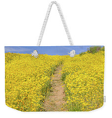 Weekender Tote Bag featuring the photograph Golden Trail by Marc Crumpler