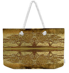 Golden Trees Reflection Weekender Tote Bag