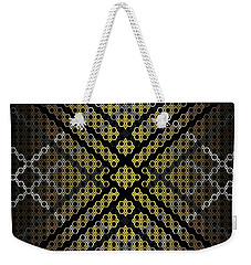 Golden Tri Weekender Tote Bag