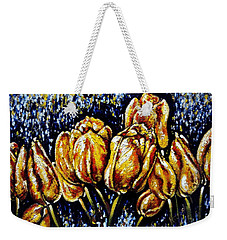Golden Tulips Weekender Tote Bag