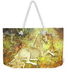 Golden Unicorn Dreams Weekender Tote Bag