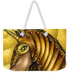 Golden Unicorn Warrior Art Weekender Tote Bag