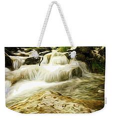 Golden Waterfall Weekender Tote Bag