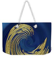 Golden Wave Abstract Weekender Tote Bag