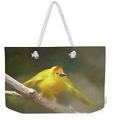 Golden Weaver - Digital Painting Weekender Tote Bag