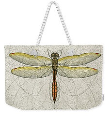 Golden Winged Skimmer Weekender Tote Bag